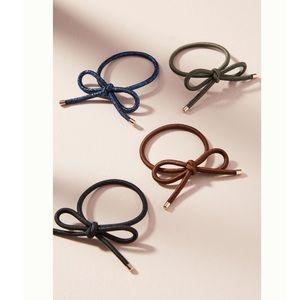 NWT ANTHRO Bow Hair Tie Set
